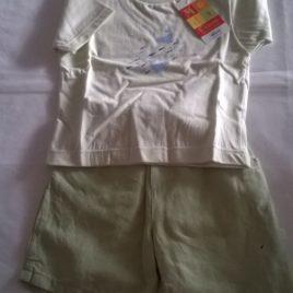 Bermuda MistoLino + T-Shirt - 1 anno